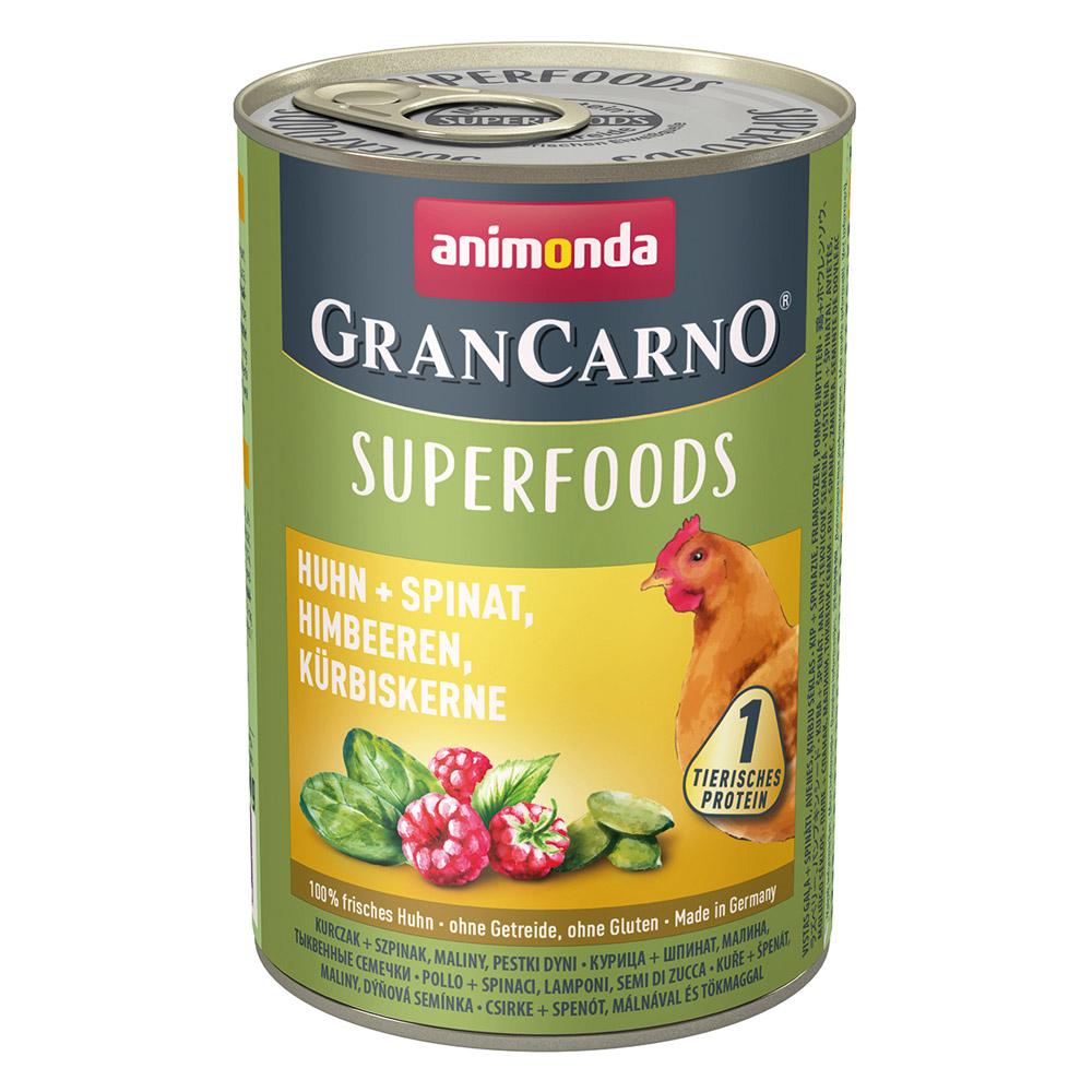 グランカルノ ウェット スーパーフード アダルト 鶏・ホウレンソウ・ラズベリー・パンプキンシード(82435)