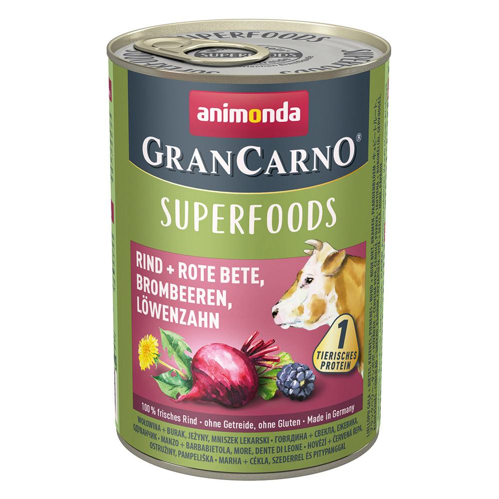 グランカルノ ウェット スーパーフード アダルト 牛・ビートルート・ブラックベリー・タンポポ(82436)